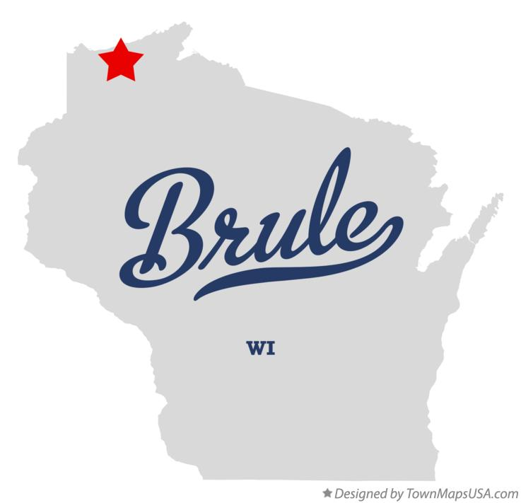 Map of Brule Wisconsin WI