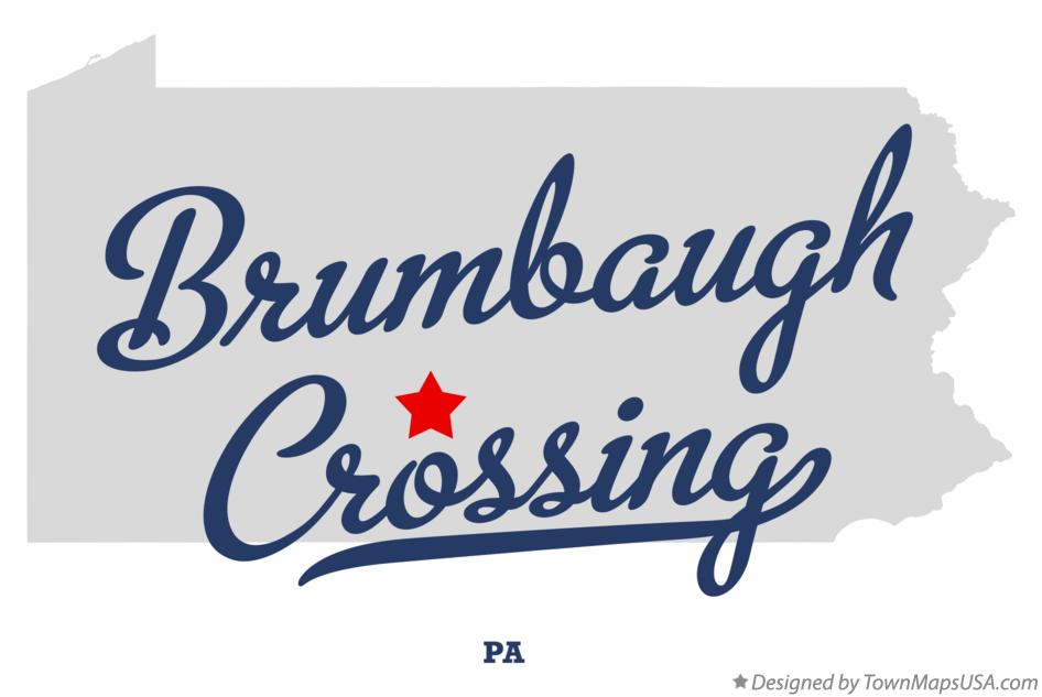 Map of Brumbaugh Crossing Pennsylvania PA