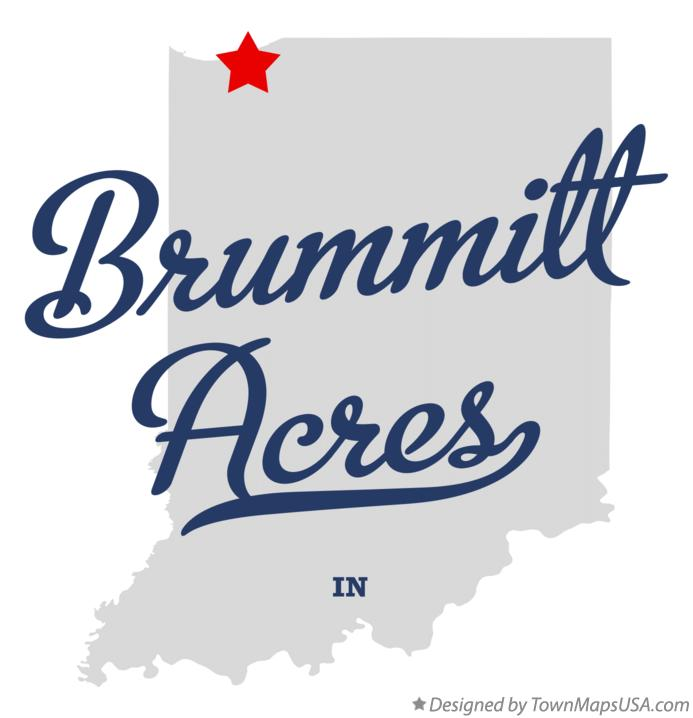 Map of Brummitt Acres Indiana IN