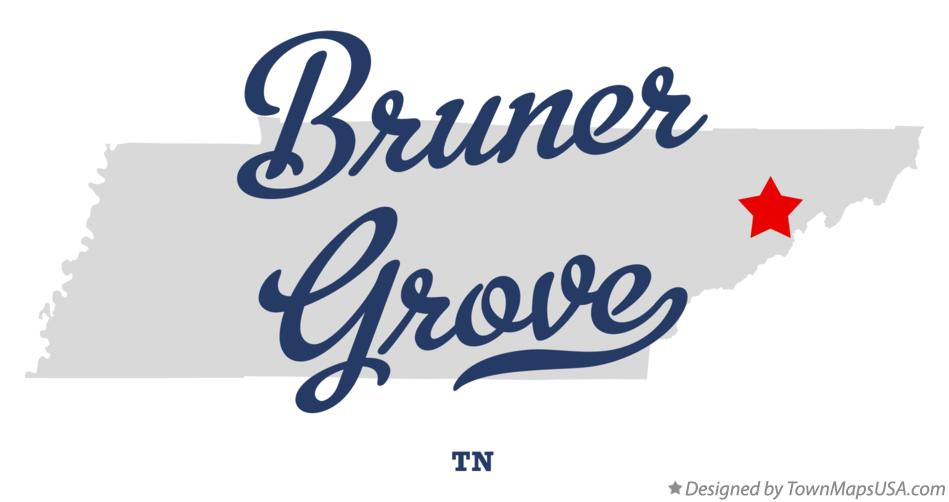 Map of Bruner Grove Tennessee TN