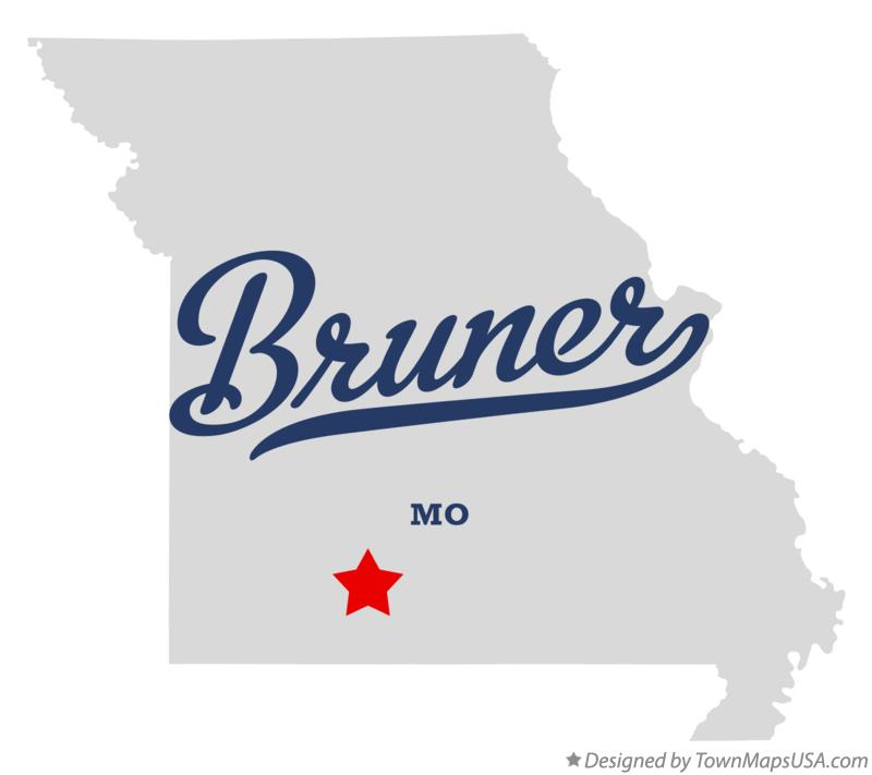 Map of Bruner Missouri MO