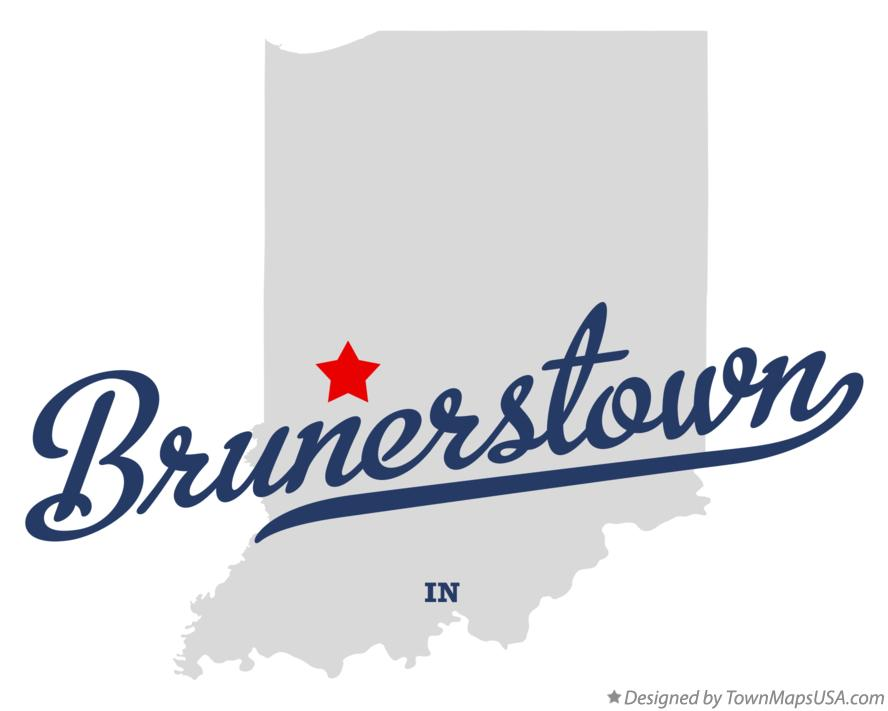 Map of Brunerstown Indiana IN