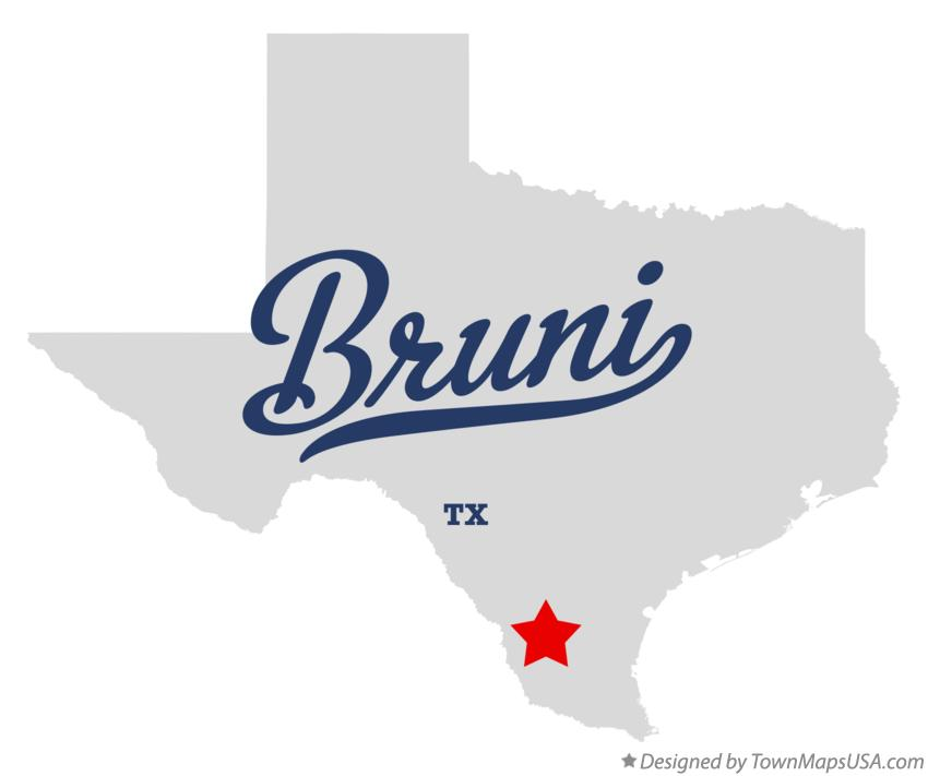 Map of Bruni Texas TX