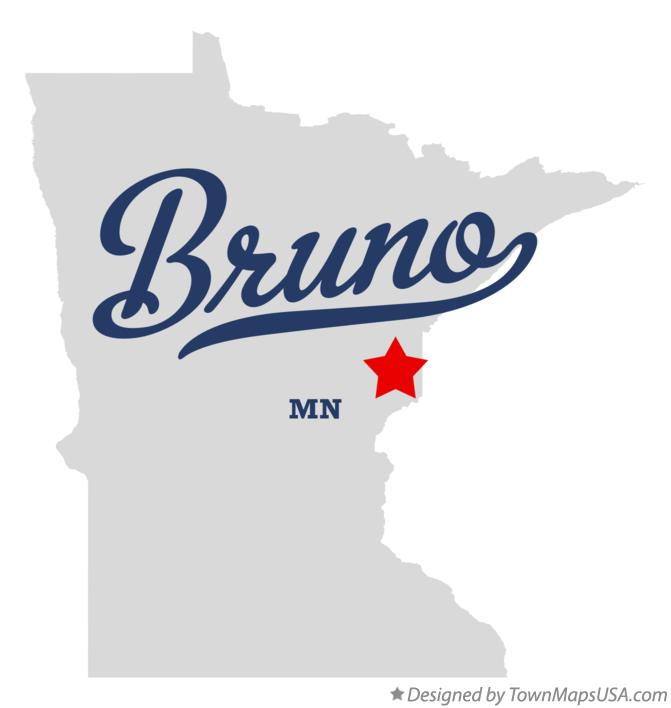 Map of Bruno Minnesota MN