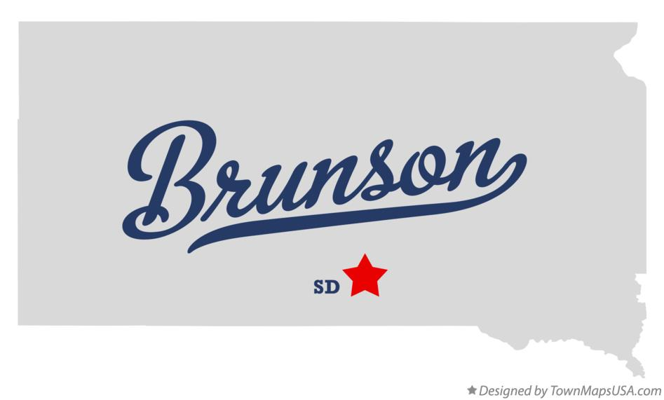 Map of Brunson South Dakota SD
