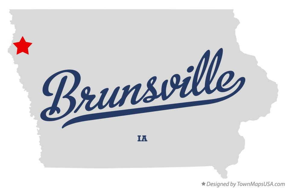 Map of Brunsville Iowa IA