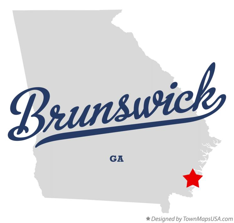 Map of Brunswick Georgia GA