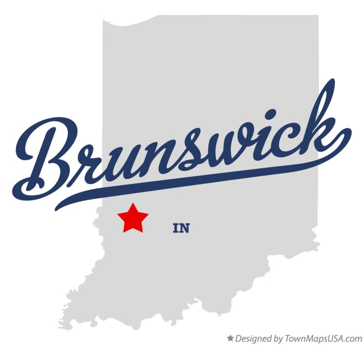 Map of Brunswick Indiana IN