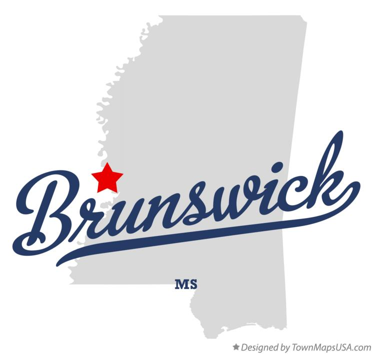 Map of Brunswick Mississippi MS