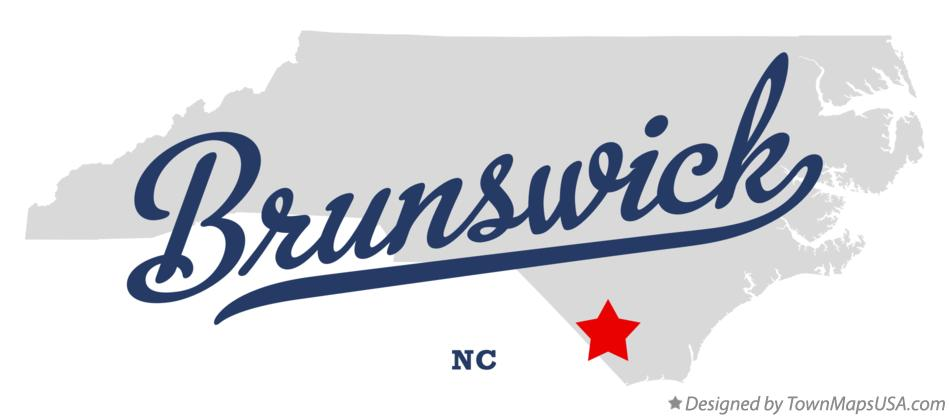 Map of Brunswick North Carolina NC