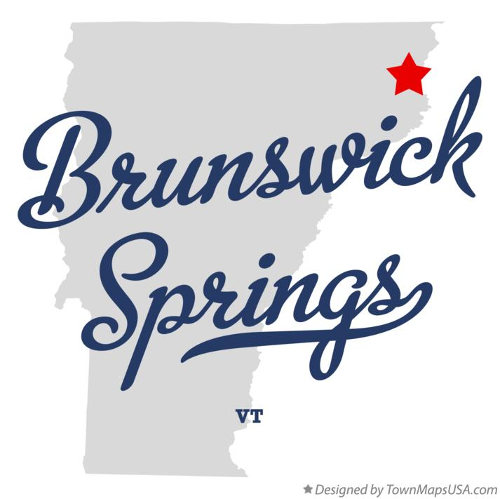 Map of Brunswick Springs Vermont VT