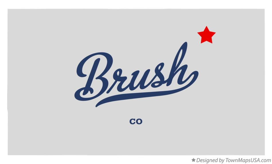 Map of Brush Colorado CO