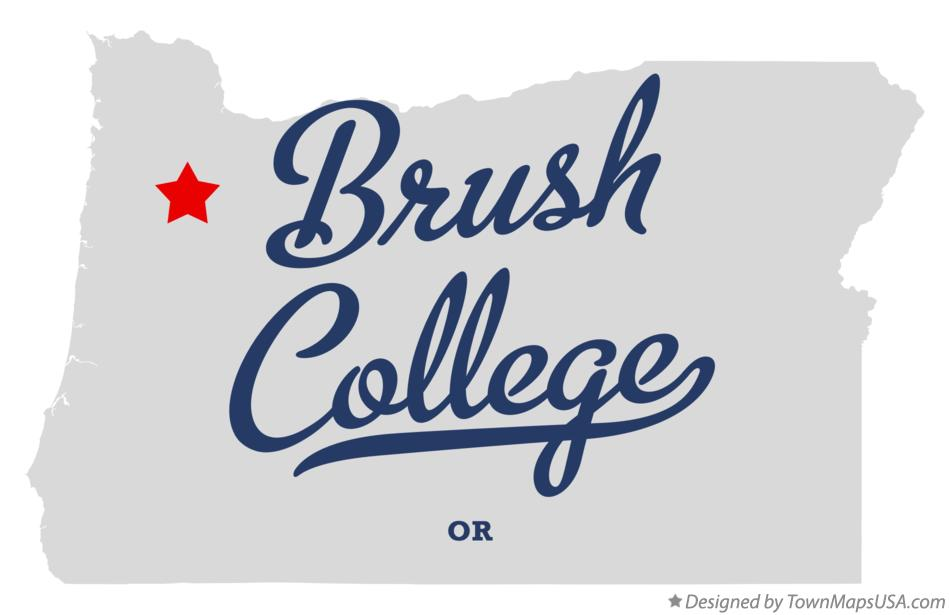 Map of Brush College Oregon OR