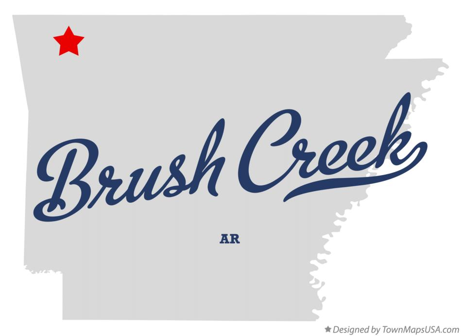 Map of Brush Creek Arkansas AR