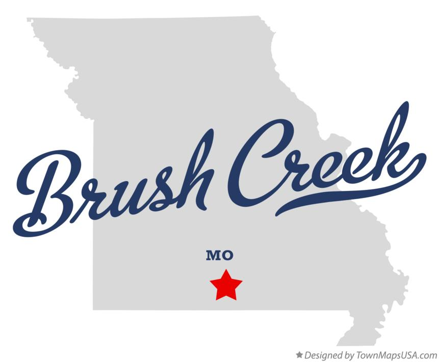 Map of Brush Creek Missouri MO