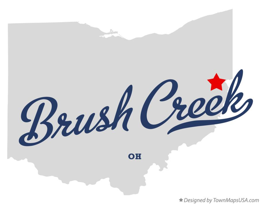 Map of Brush Creek Ohio OH