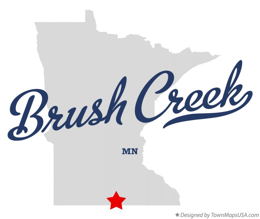 Map of Brush Creek Minnesota MN