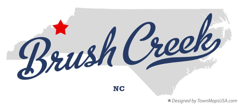 Map of Brush Creek North Carolina NC