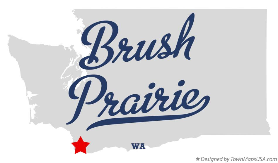 Map of Brush Prairie Washington WA