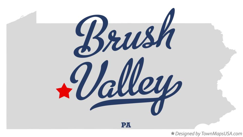 Map of Brush Valley Pennsylvania PA