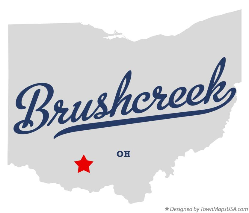 Map of Brushcreek Ohio OH