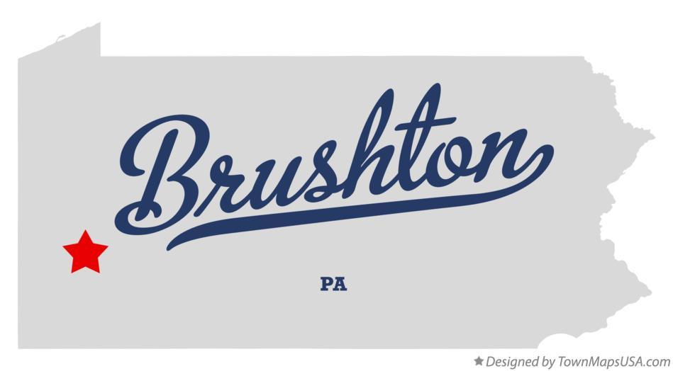 Map of Brushton Pennsylvania PA