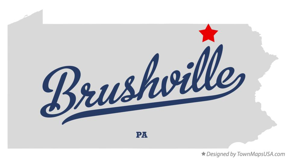 Map of Brushville Pennsylvania PA