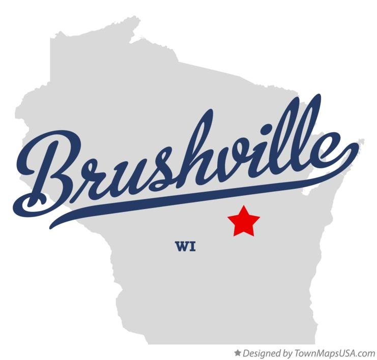 Map of Brushville Wisconsin WI