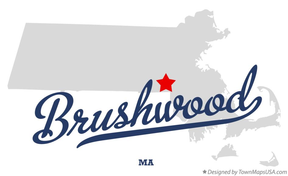Map of Brushwood Massachusetts MA