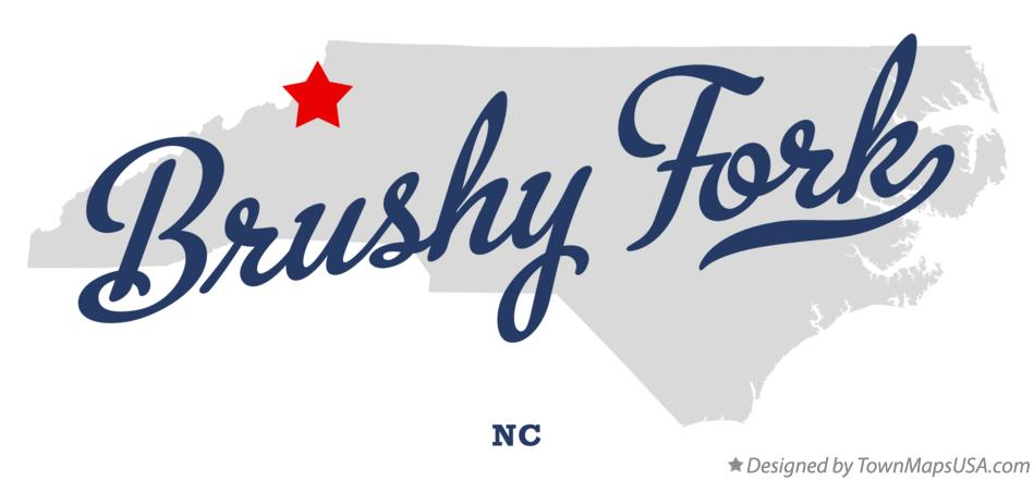 Map of Brushy Fork North Carolina NC