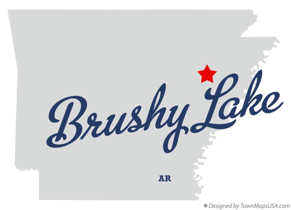 Map of Brushy Lake Arkansas AR