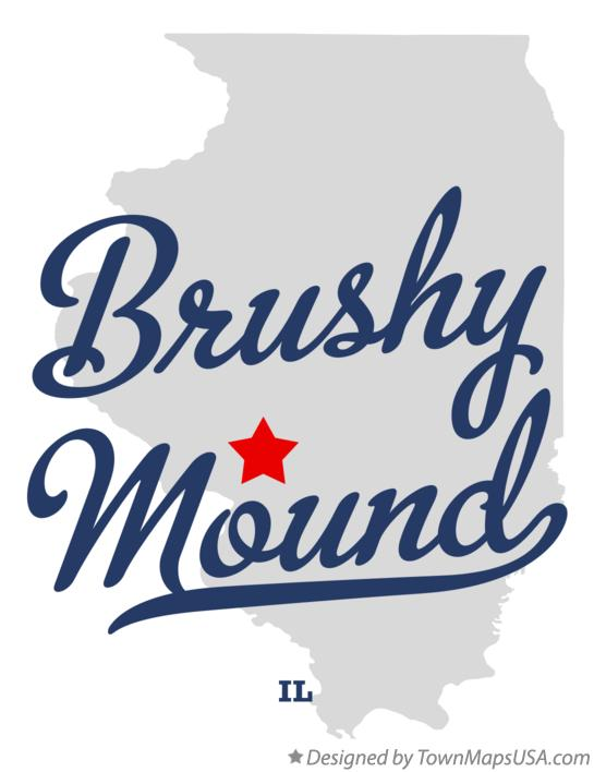 Map of Brushy Mound Illinois IL