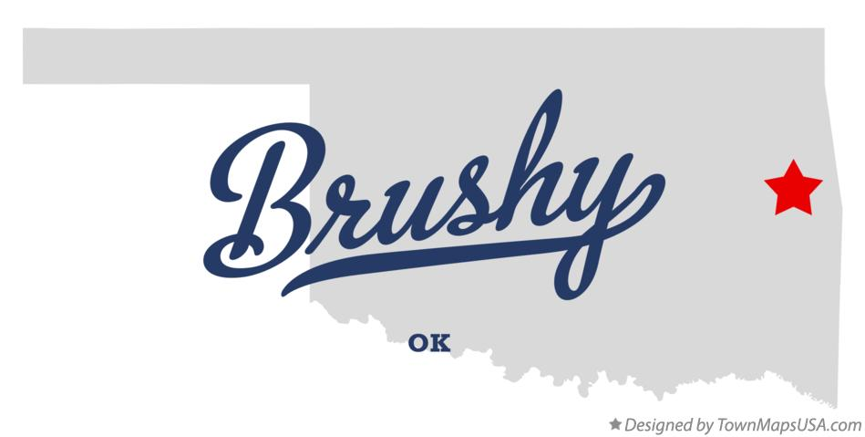 Map of Brushy Oklahoma OK