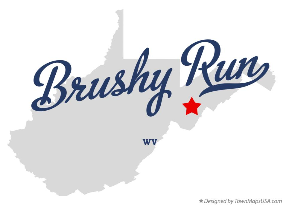 Map of Brushy Run West Virginia WV