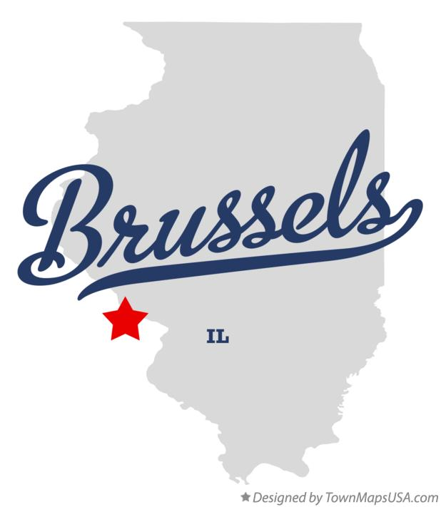 Map of Brussels Illinois IL