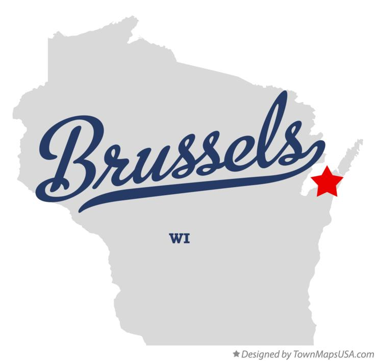 Map of Brussels Wisconsin WI