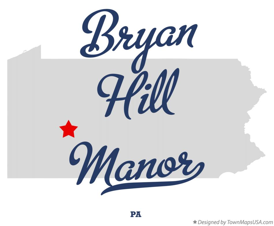 Map of Bryan Hill Manor Pennsylvania PA