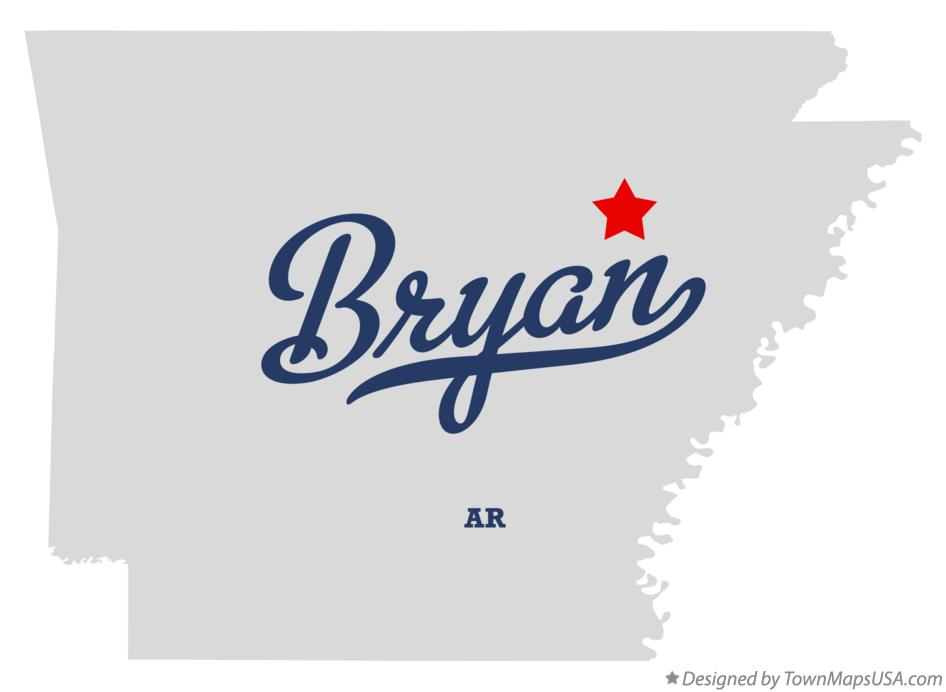 Map of Bryan Arkansas AR