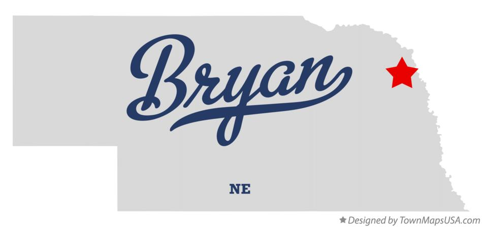 Map of Bryan Nebraska NE