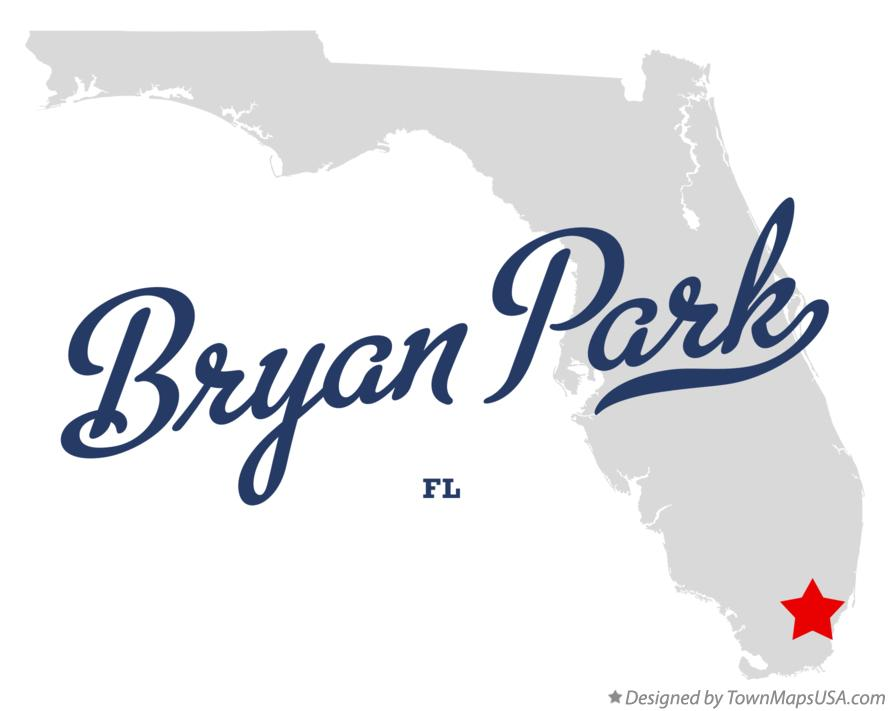 Map of Bryan Park Florida FL