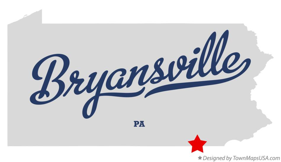 Map of Bryansville Pennsylvania PA