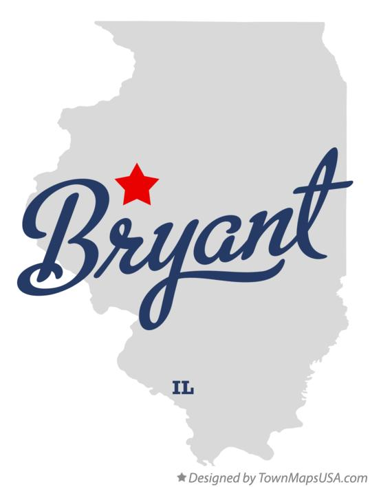Map of Bryant Illinois IL