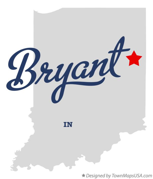 Map of Bryant Indiana IN