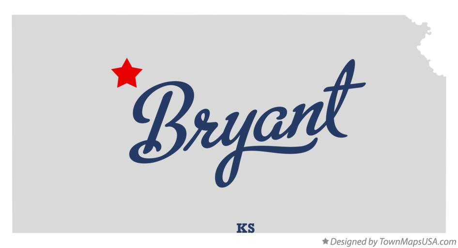 Map of Bryant Kansas KS