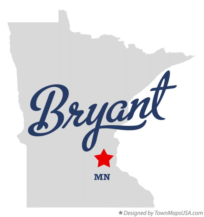 Map of Bryant Minnesota MN