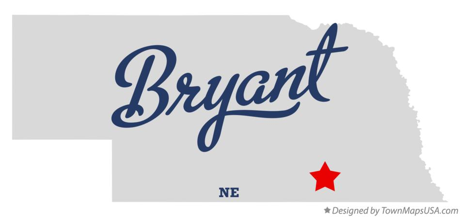 Map of Bryant Nebraska NE
