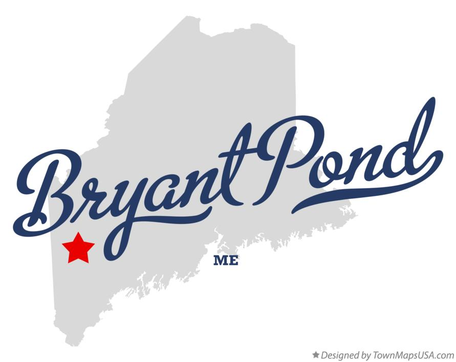 Map of Bryant Pond Maine ME