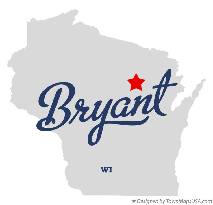Map of Bryant Wisconsin WI