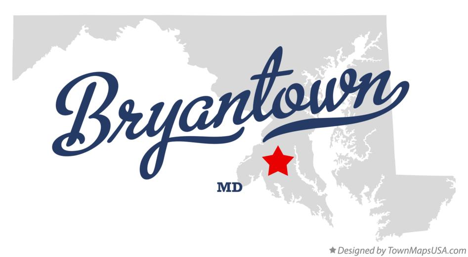 Map of Bryantown Maryland MD