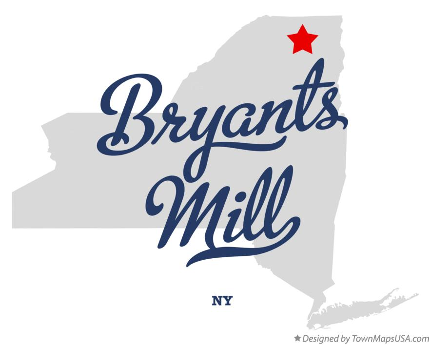 Map of Bryants Mill New York NY